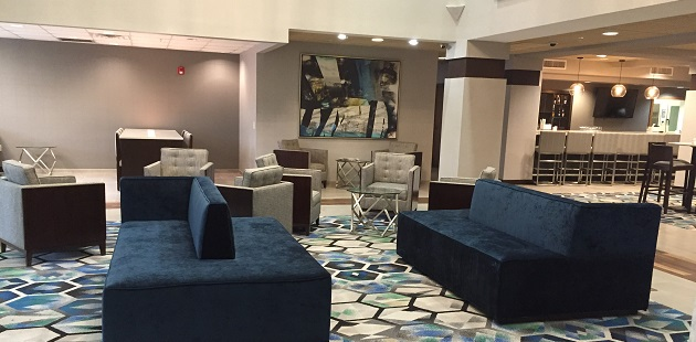 Welcoming lobby at Radisson Hotel Dallas North-Addison