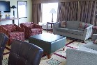 Sofa and chairs in Hartford hotel suite