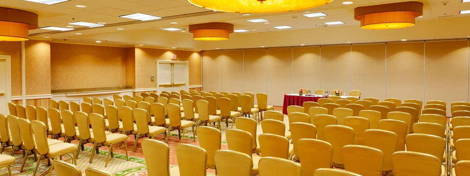 Theater-style meeting room setup at Hartford hotel