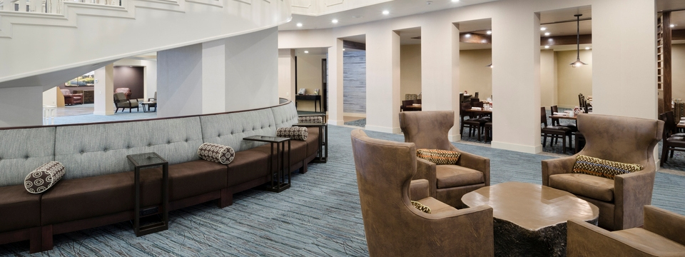 Lobby with couches and chairs