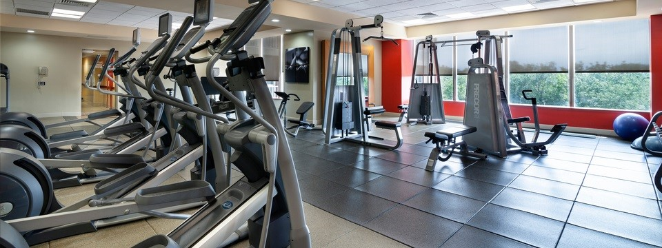 Fitness center equipped with ellipticals and cardio equipment