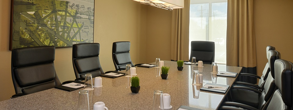 Boardroom featuring ergonomic chairs