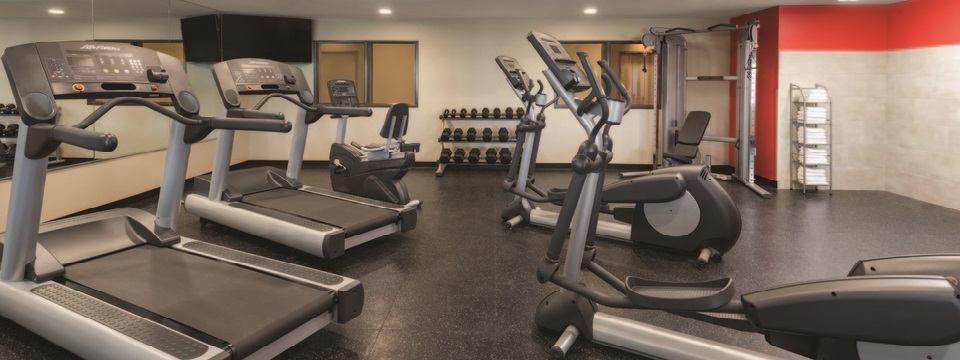 Fitness center with treadmill and more