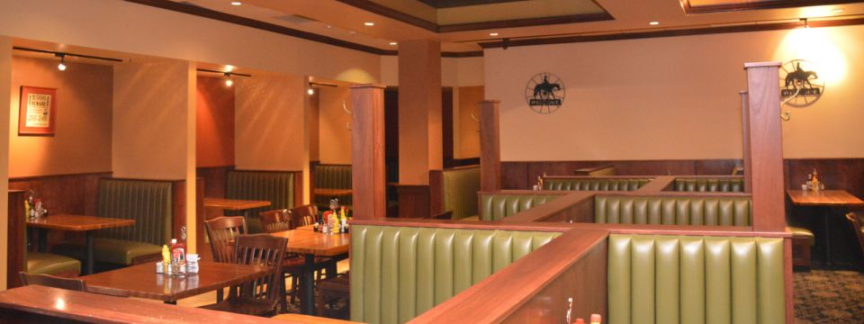 Restaurant with comfortable booth seating