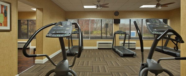 Fitness center with treadmills and other cardio equipment