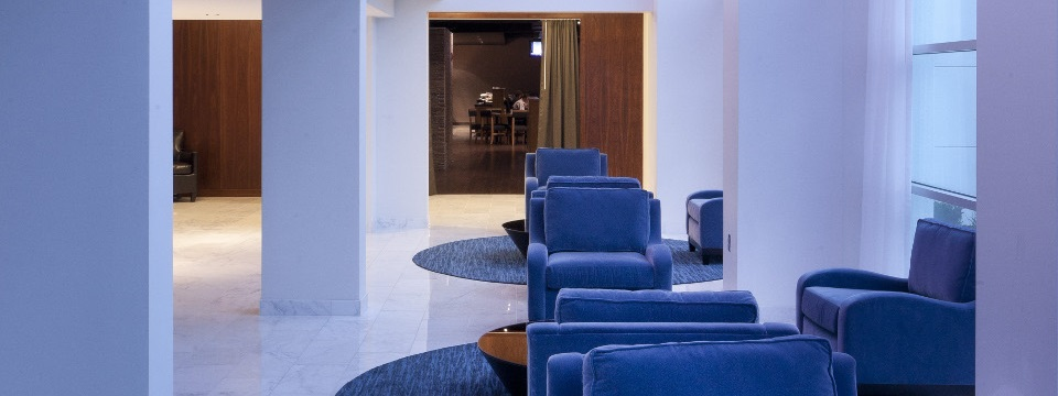 Hotel lobby with seating