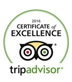 TripAdvisor Certificate of Excellence 2016 Winner