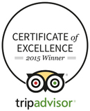 TripAdvisor 2015 Certificate of Excellence Winner
