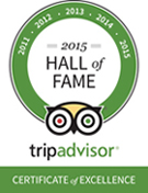 TripAdvisor 2015 Hall of Fame Award Winner