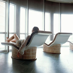 Relax in style at the hotel's sauna and steam rooms